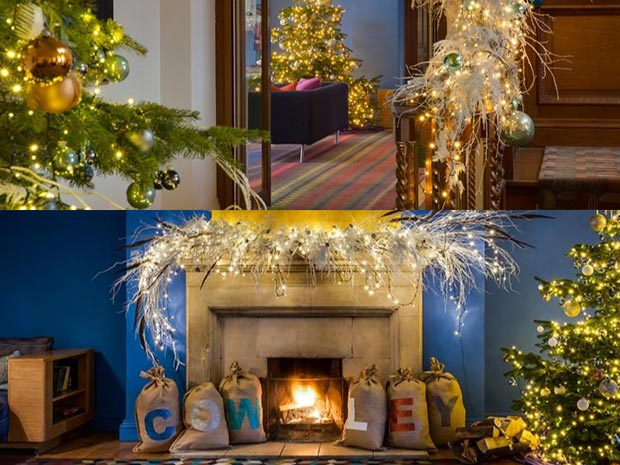 Christmas at Cowley Manor Hotel