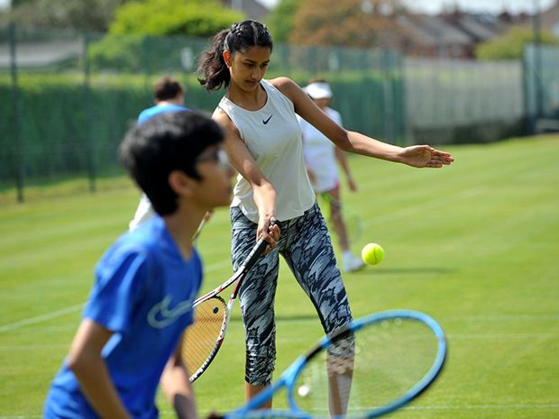Children playing tennis at East Glos Club in Cheltenham