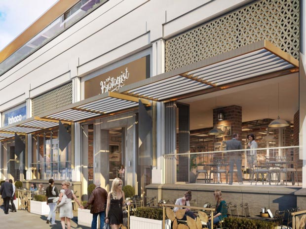 Plans for the new frontage at Regent Arcade