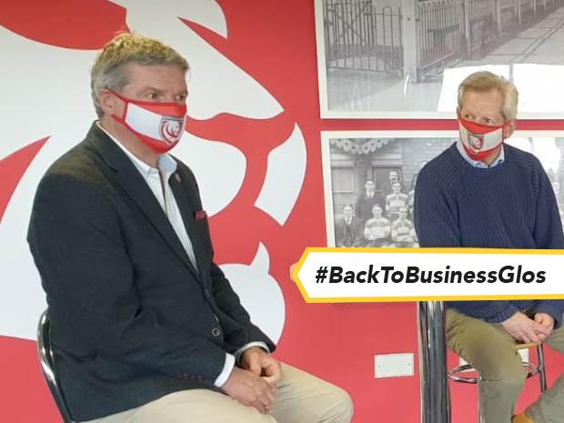 Lance Bradley, of Gloucester Rugby, talks about the Kickstarter scheme with Gloucester MP Richard Graham.