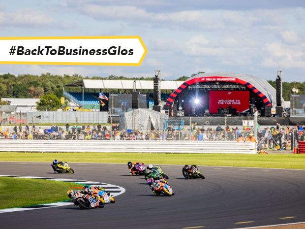 Action from the Moto GP at Silverstone on Sunday 29 August 2021 - which marked Freemans Event Partner's 40 years in business with the world famous venue.