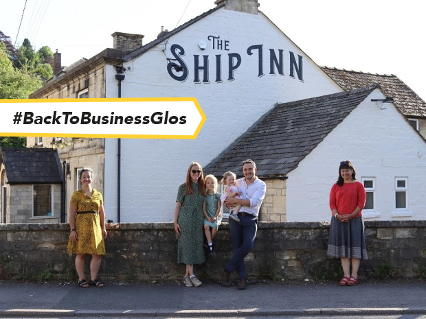 The Ship Inn's new landlords.