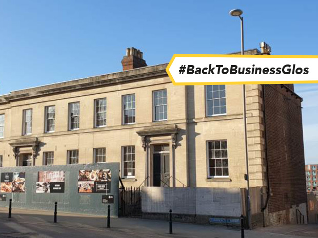 Developer Ladybellegate Estates has finally begun work to transform the former solicitors offices off Commercial Road into the much anticipated Gloucester Food Dock.