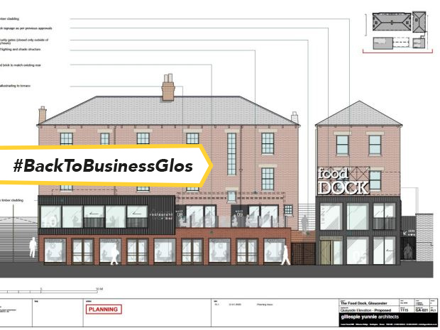 An artist's impression of Gloucester Food Dock, courtesy of Gillespie Yunnie Architects.