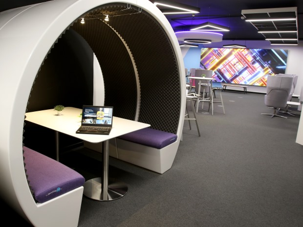 Inside Gloucestershire College's new cyber-focused West of England Institute of Technology (WEIoT) at its Cheltenham campus.